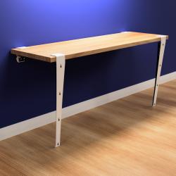 Wall-mounted desk kit